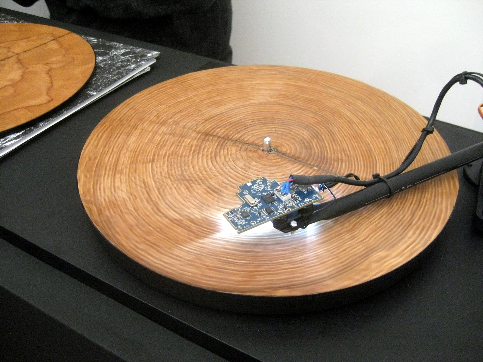 Slice of Tree Trunk Played on Turntable......