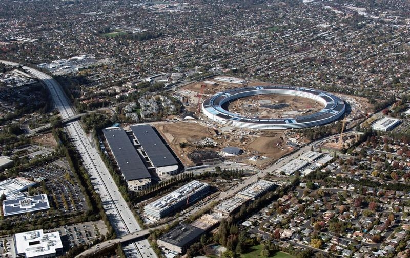 Apple's New Spaceship Headquarters in Cupertino California...