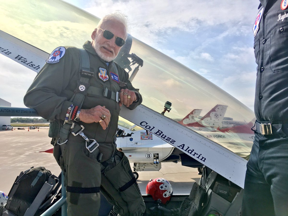 Buzz Aldrin flies again