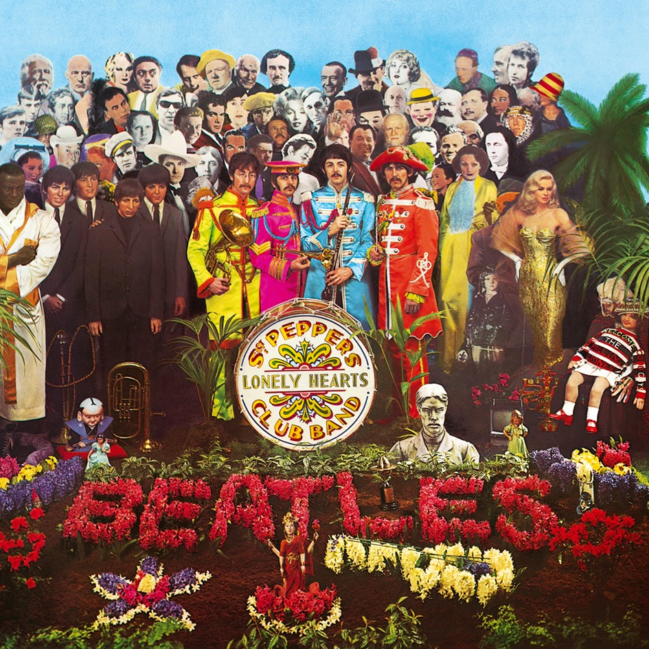 One month today Sgt Pepper is 50. Let's go behind the scenes at the cover shoot