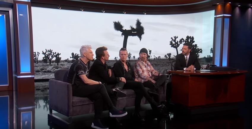 U2's Surprise Performance on Jimmy Kimmel ............
