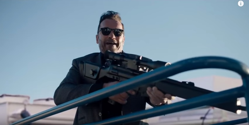 Guess Who's Back? Arnold Schwarzenegger...... Killing Gunther.....