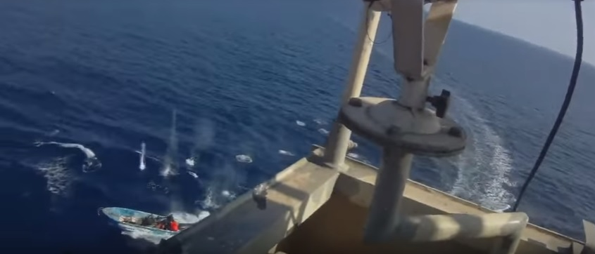Cargo Ship security dealing with pirates.