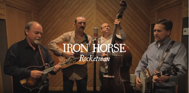 "An amazing bluegrass cover of ""Rocket Man""."