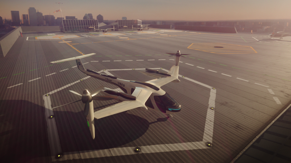 Uber to Bring Its Flying Taxis to Traffic-Congested cities.