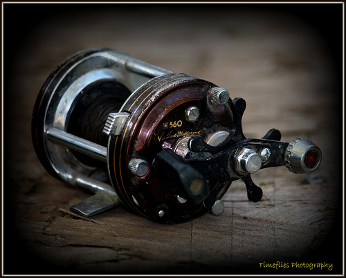 Lost: a fishing reel