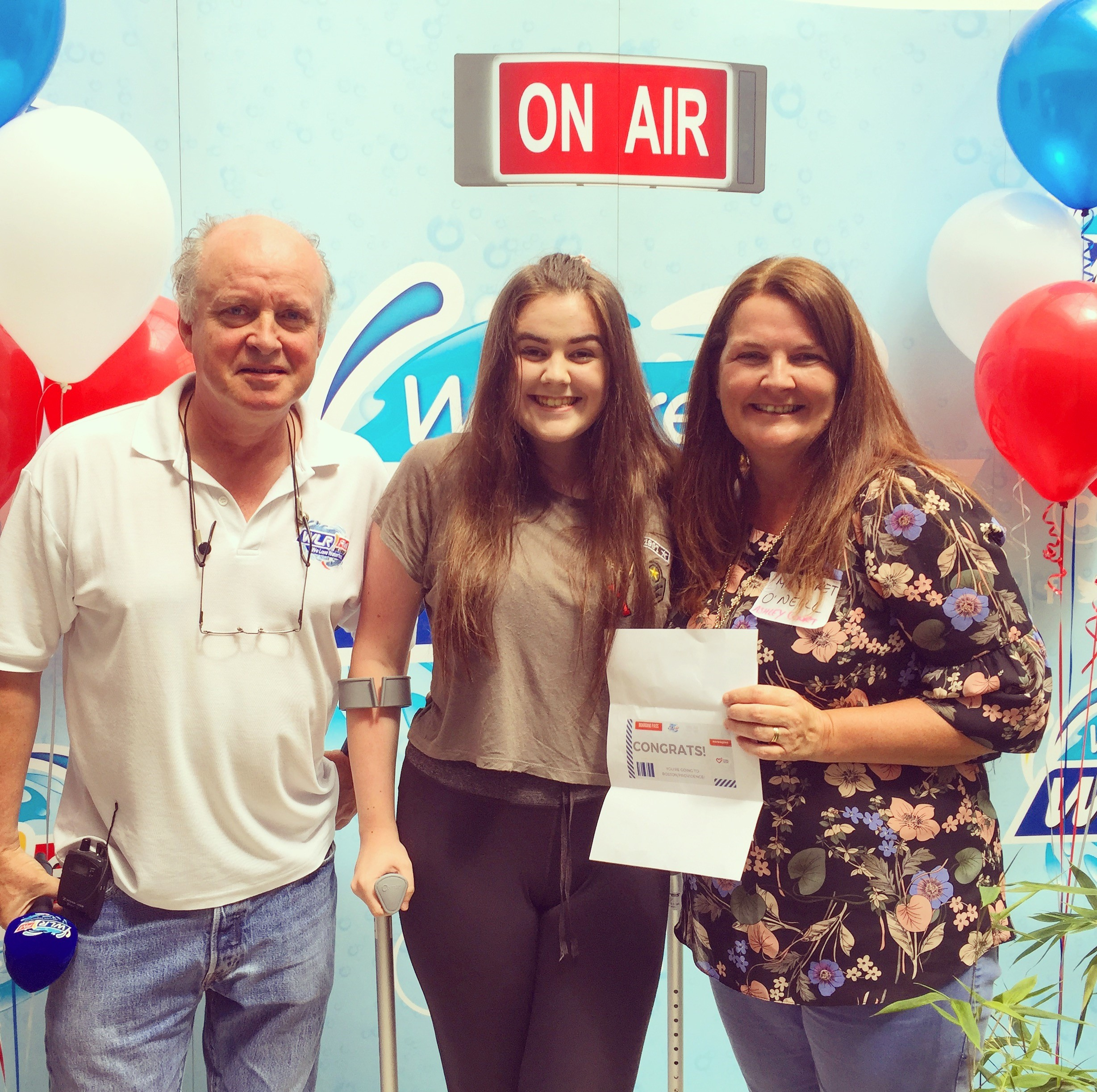 Margaret O'Neill from Waterford City wins flights to Boston/Providence on WLR
