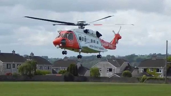 Rescue 117 crew transport cardiac patient from UHW to CUH Cork, Sunday morning.