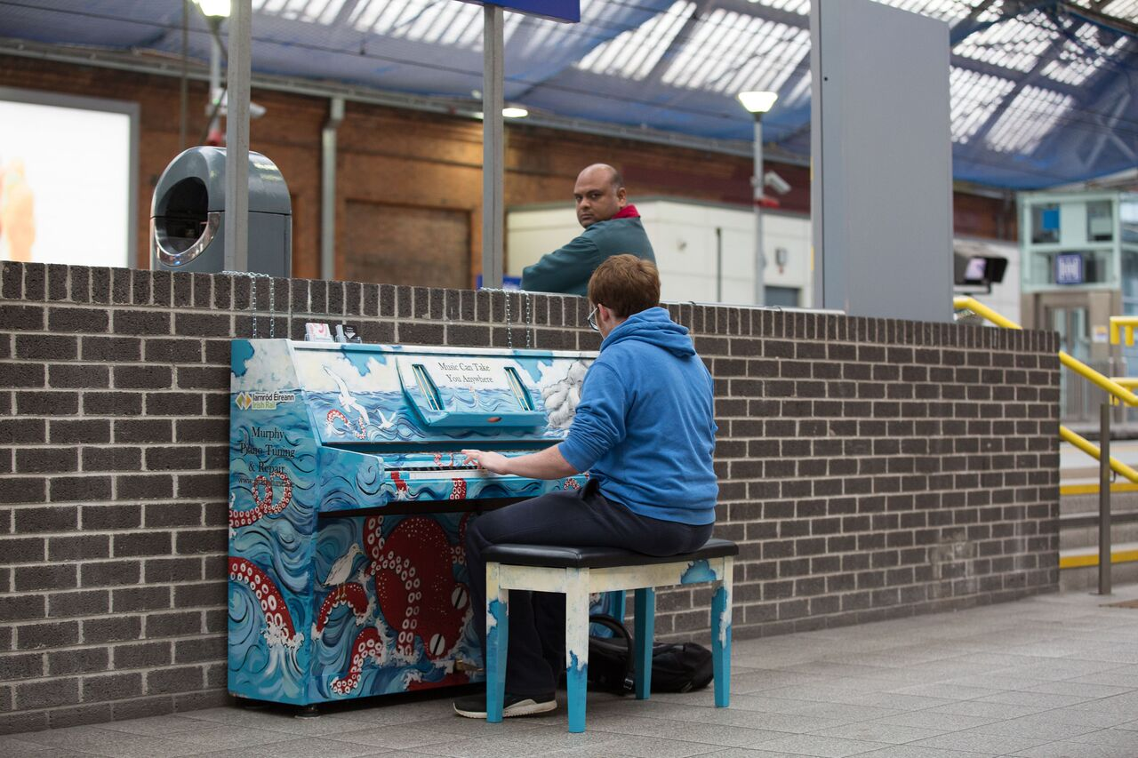 A Waterford artist makes her mark at a busy Dublin train station