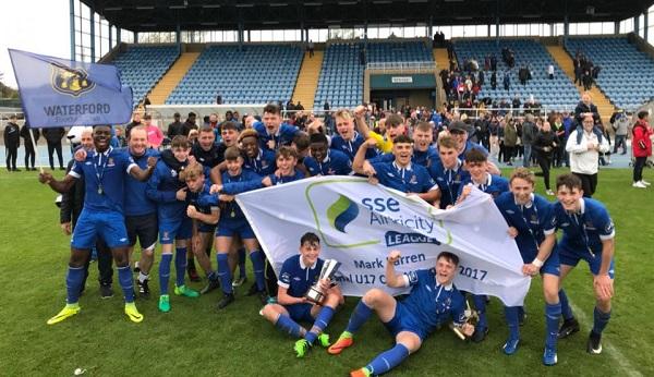Waterford FC U17's clinch Mark Farren Cup