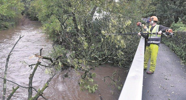 Waterford City and County Council staff still dealing with aftermath of Ophelia.