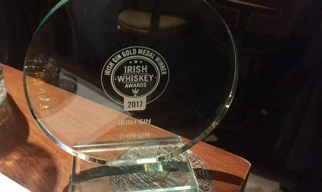 Thin Gin wins gold for third year running at the Irish Whiskey Awards