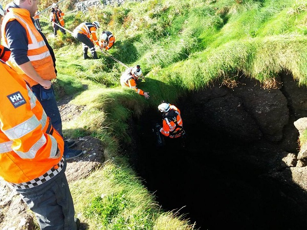Trapped dog rescued in Dunmore East