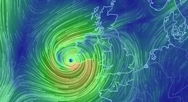 Service cancellations in Waterford due to Storm Ophelia.