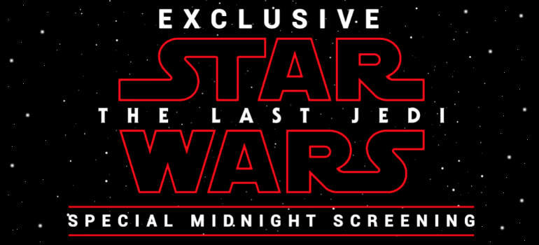 Buy tickets for the Exclusive Midnight Screening of Star Wars: The Last Jedi