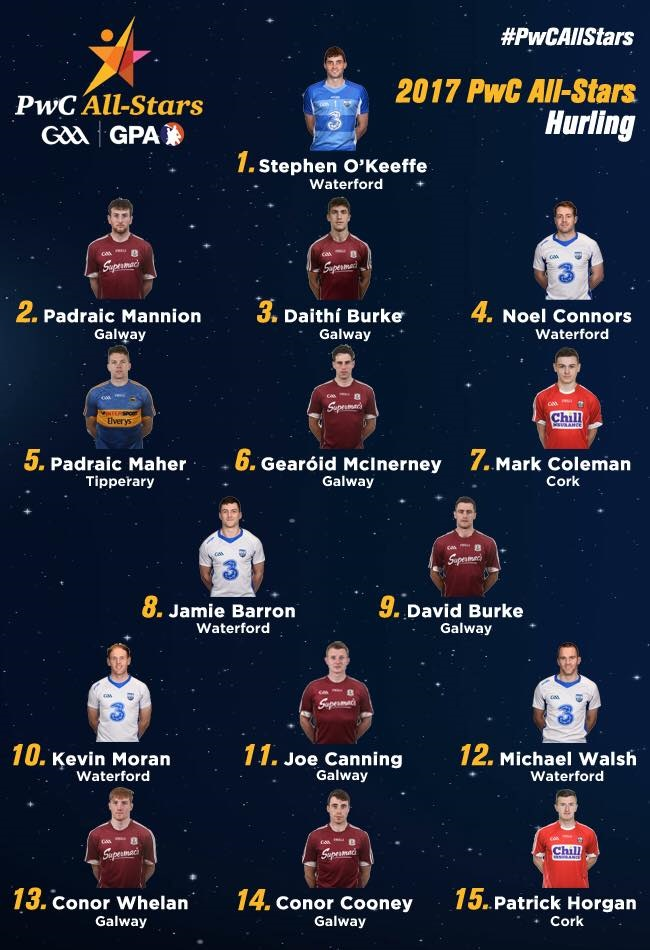 Five Déise hurlers named in All - Star team