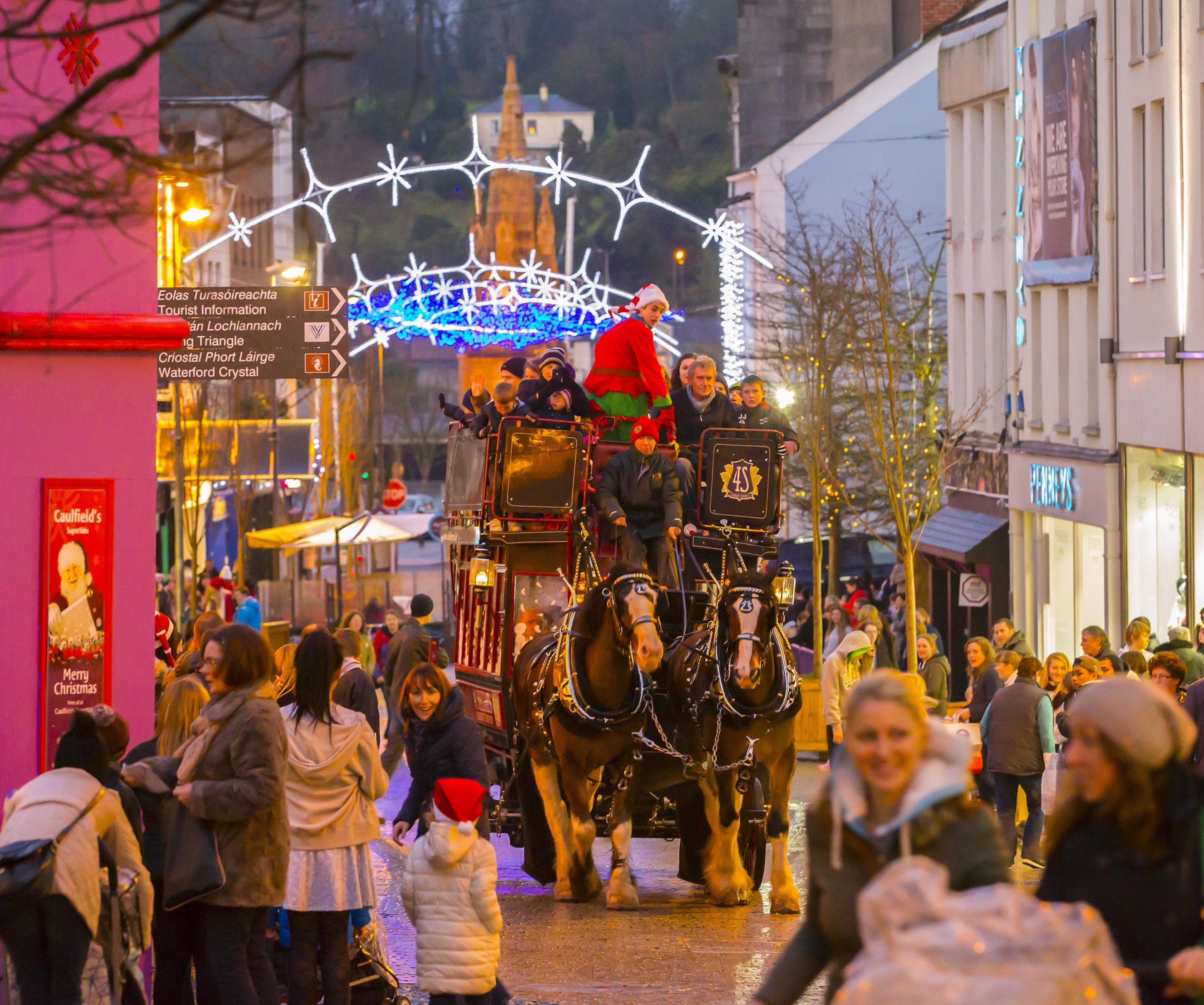 Owner of Waterford Shire Horses assures public of the safety and well-being of horses working with Winterval's horse drawn sleigh.