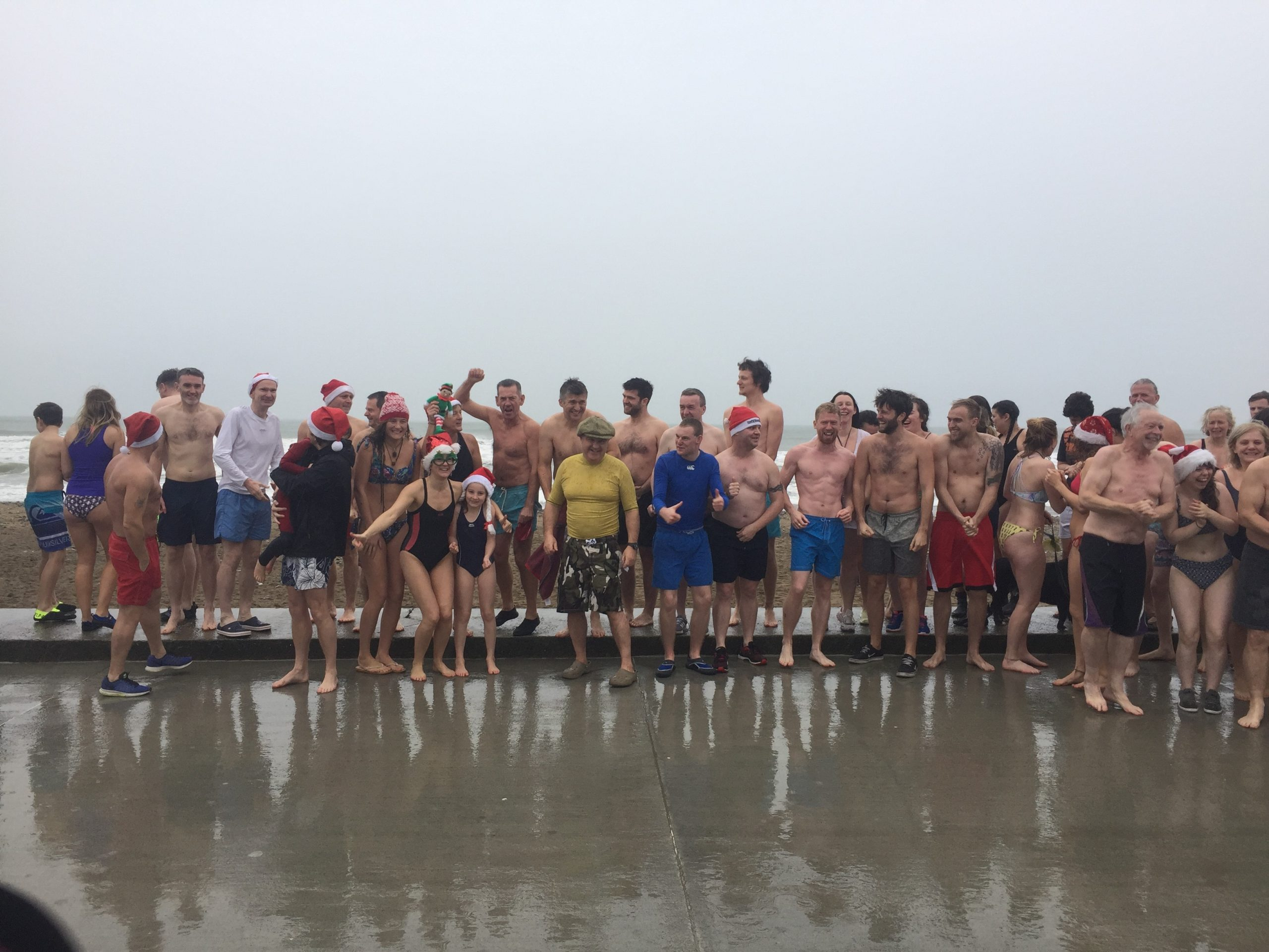 Hundreds of people in Waterford have taken part in Christmas Day swims.