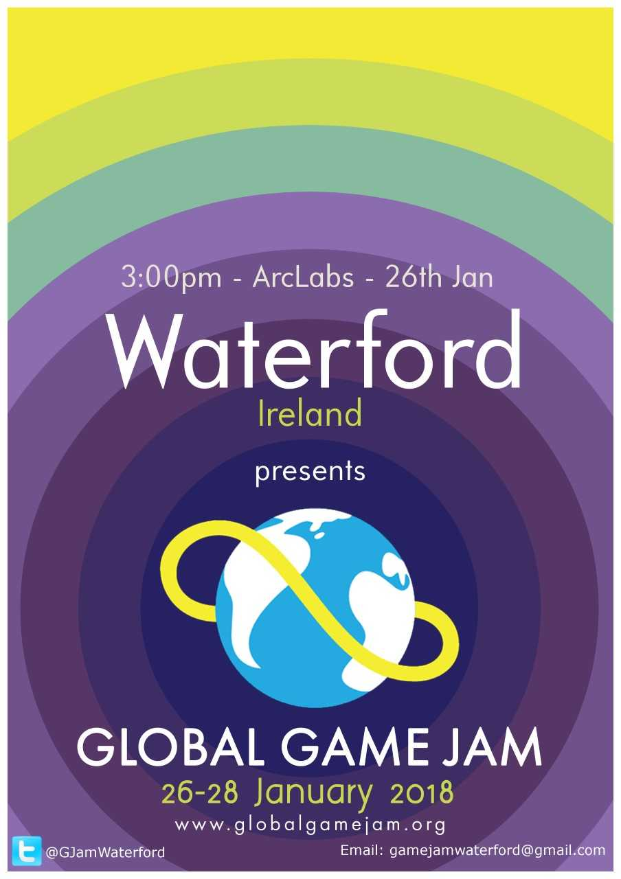 """You're invited to take part in """"Global Game Jam"""" in Waterford this weekend."""