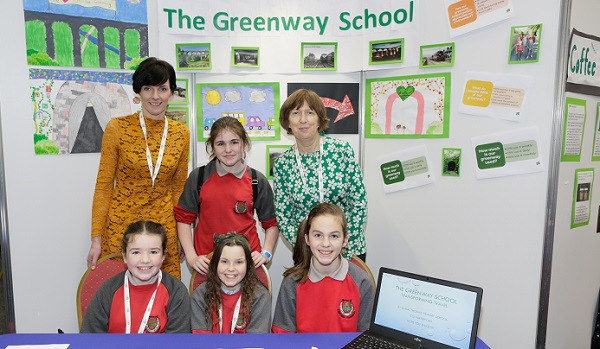 Waterford school exhibit Greenway project at the RDS
