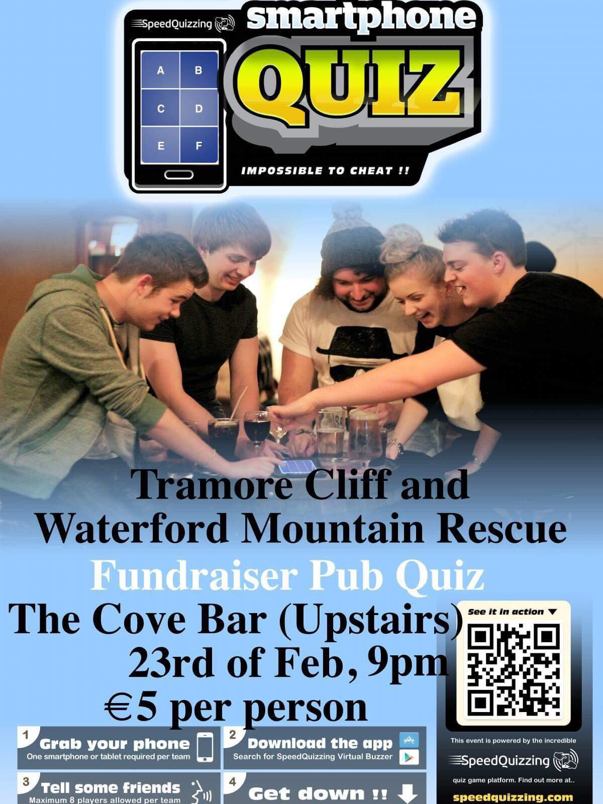 Tramore Cliff & Waterford Mountain Rescue Table Quiz- Friday February 23rd