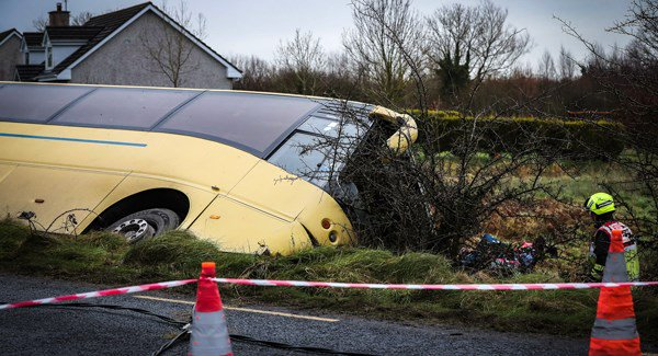 46 students on board schoolbus involved in major Limerick road accident