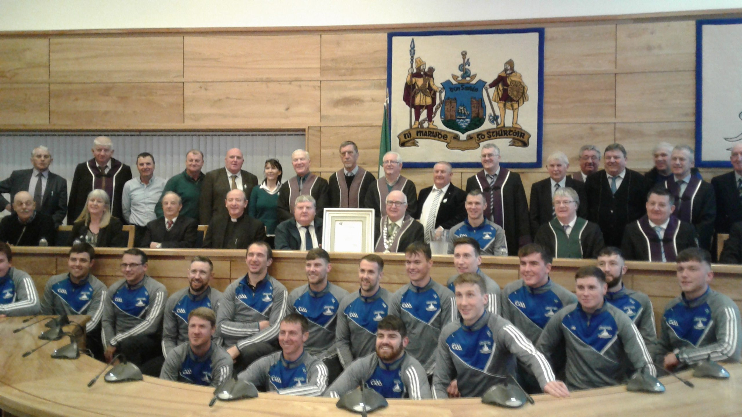Civic Reception for All-Ireland Club hurling champions held in Dungarvan last night