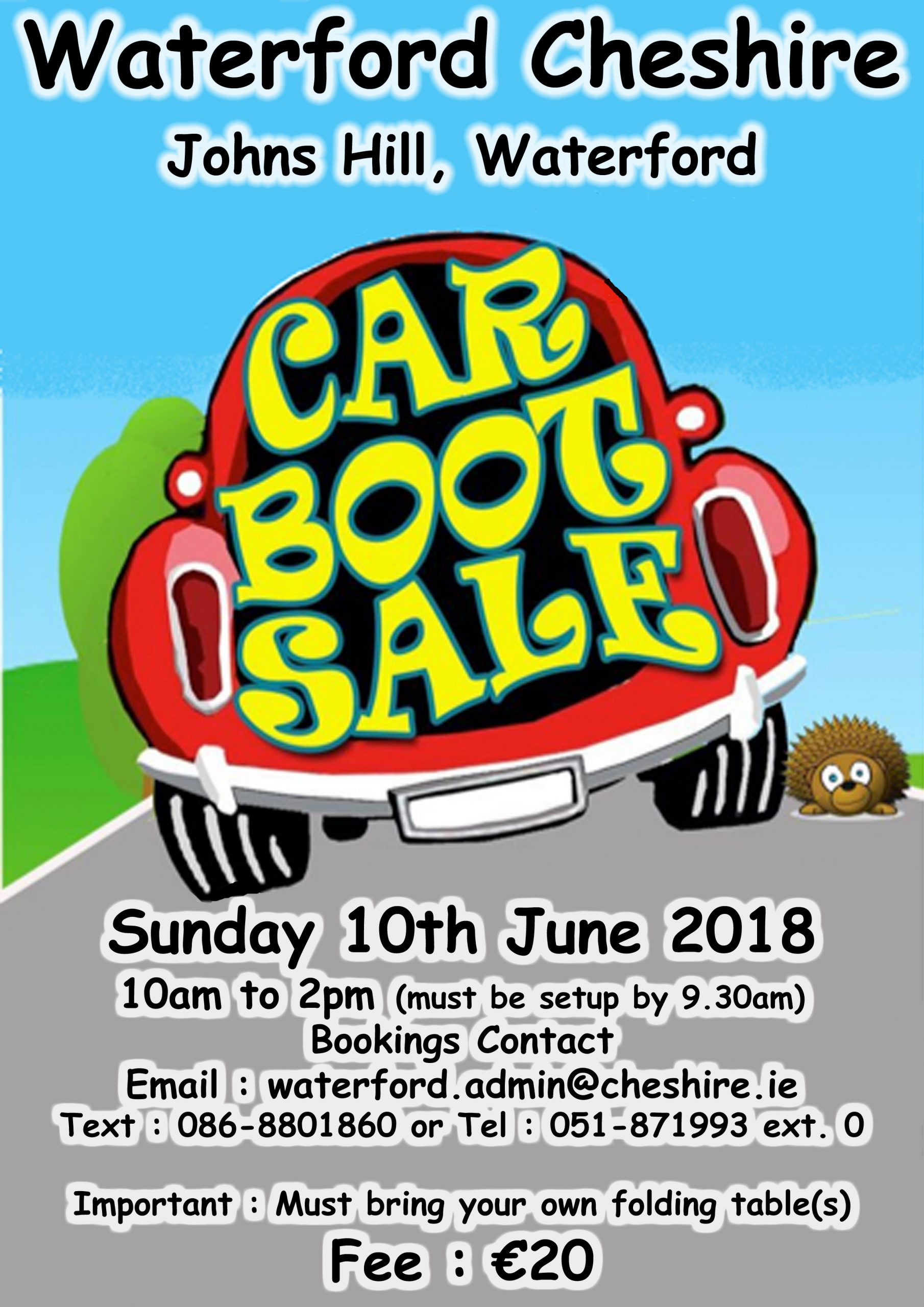 Cheshire House Car Boot Sale Sunday June 10th