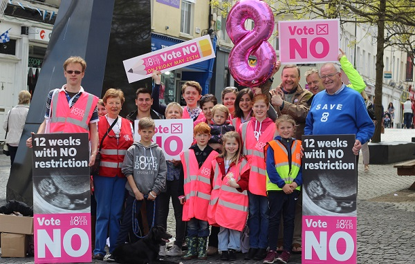 """The LoveBoth """"Vote No"""" Tour visits Waterford."""