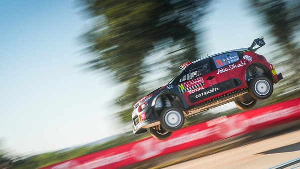 Craig Breen in action at Rally de Portugal