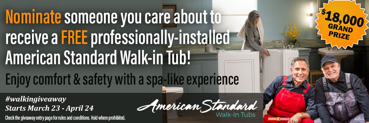 Feature: http://onthehouse.com/TheDreamBathroom/tell-everyone-about-the-american-standard-walk-in-tub-giveaway/