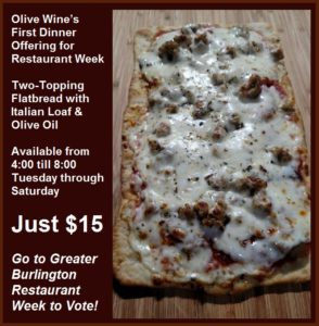olive-wine-meat-lovers-flatbread-dinner