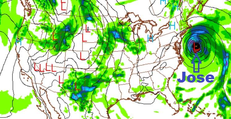 Computer forecast image from Thursday, September 14, 2017 for Tuesday, September 19, 2017