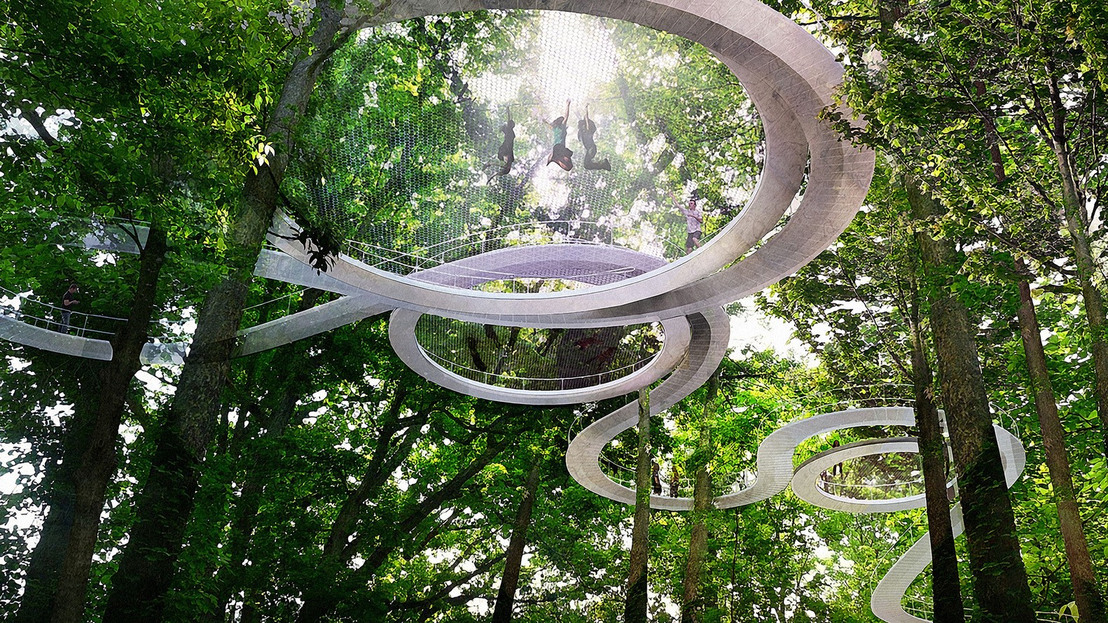 This is the Coolest Idea for a Park I have ever seen in my life.