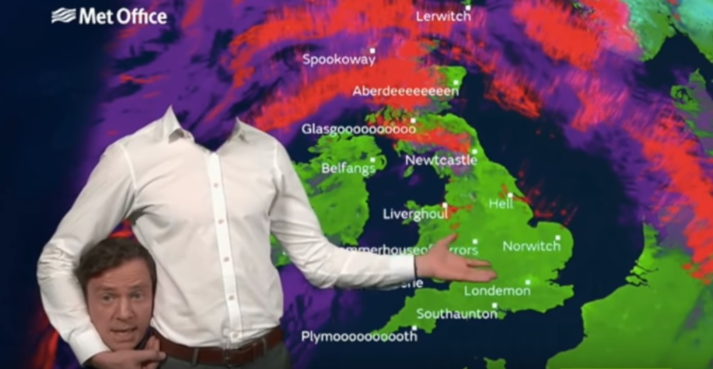 The headless weatherman