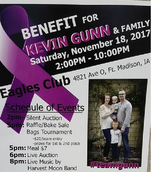 Kevin Gunn and family benefit