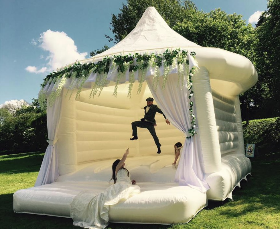 Wedding bounce house thrills