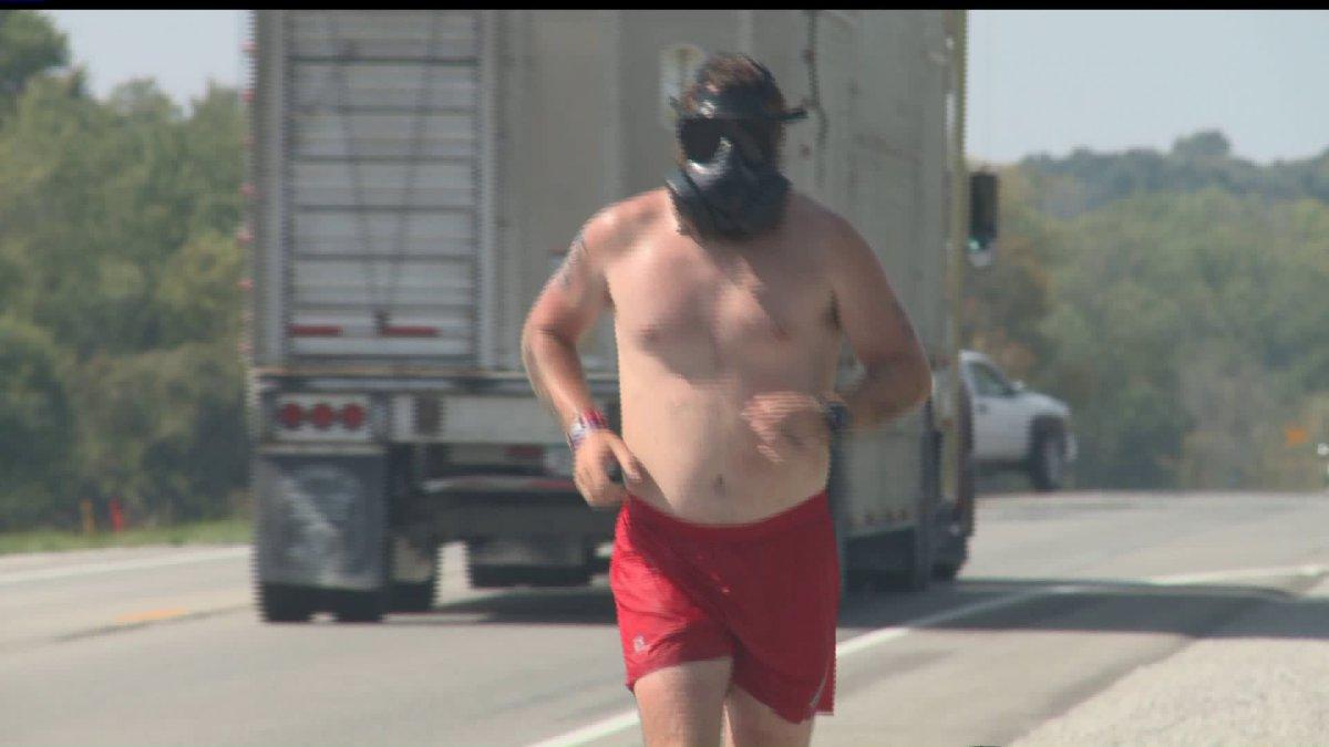Masked Veteran Running Across Iowa Ending at Big Muddy's - 6pm