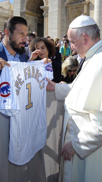 Pope Francis Gets His Own Chicago Cubs Jersey