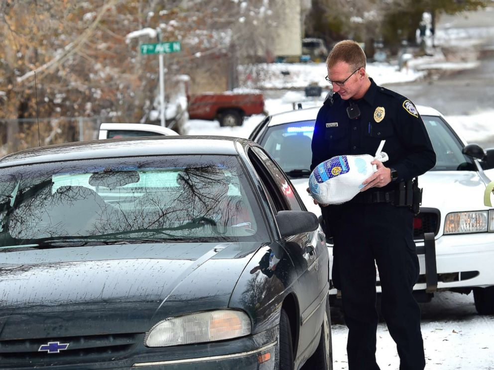 Officers Hand Out Turkeys Instead Of Tickets