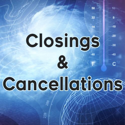 Closings for Wednesday, March 14th