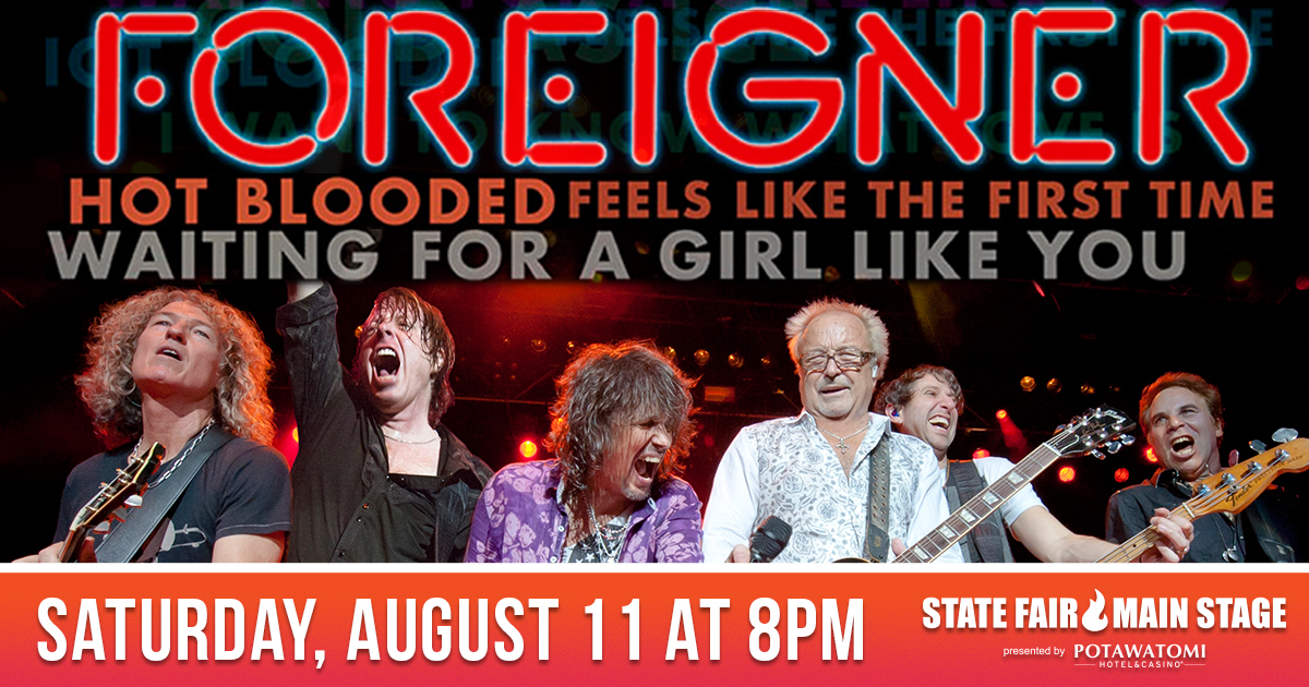 CONTEST: Win tickets to see Foreigner at the WI State Fair!