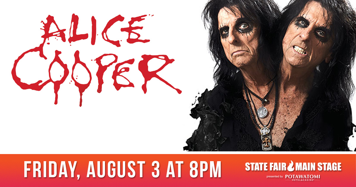 CONTEST: Win tickets to see Alice Cooper at the Wisconsin State Fair!