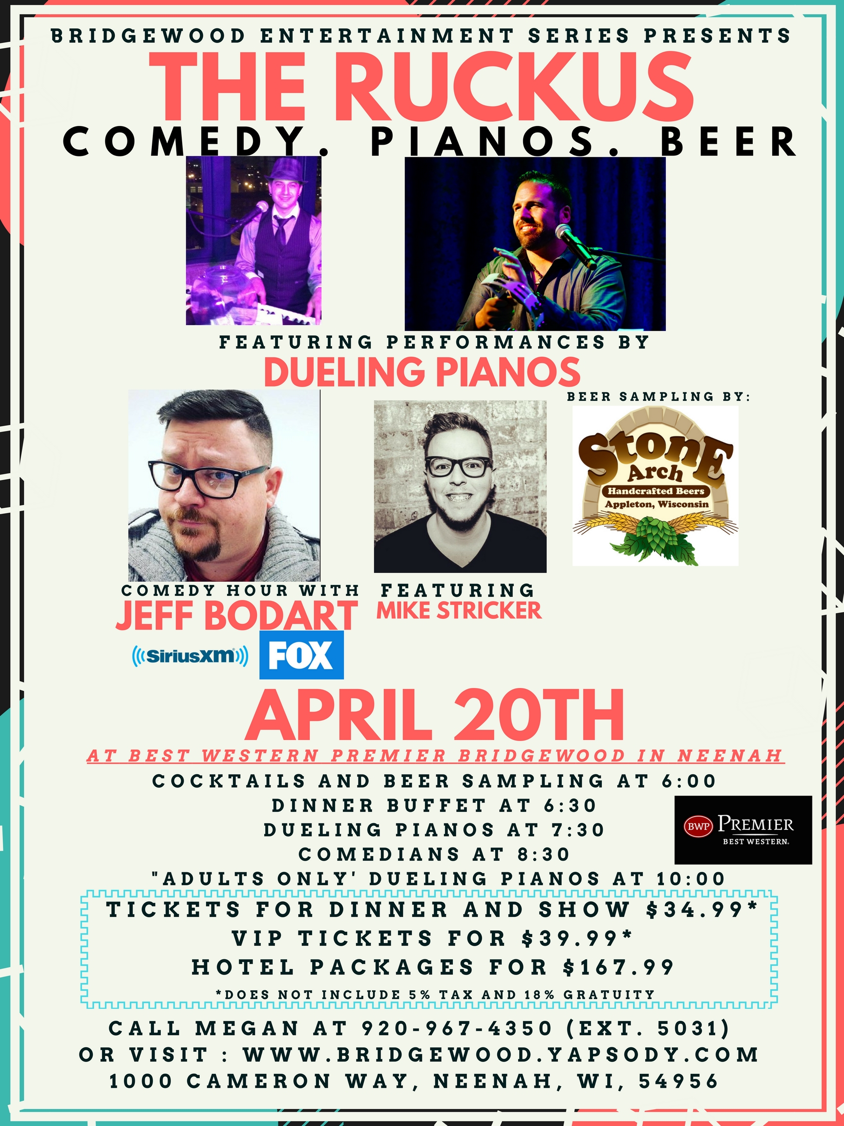 The Ruckus with Comic Jeff Bodart and Dueling Pianos