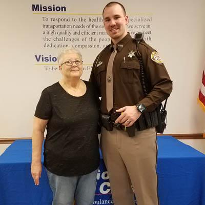 Deputy honored for saving woman's life