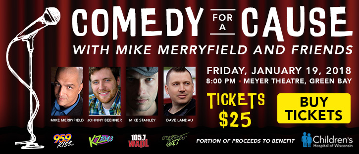Win tickets to Comedy for a Cause with Mike Merryfield and Friends with Jake & Tanner!