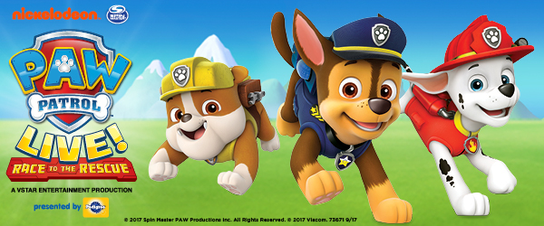 Win tickets to Paw Patrol LIVE: Race to the Rescue!
