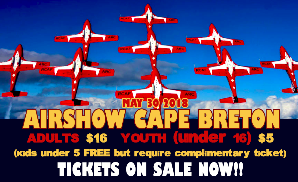 Feature: http://www.1015thehawk.com/2018/02/20/airshow-cape-breton/