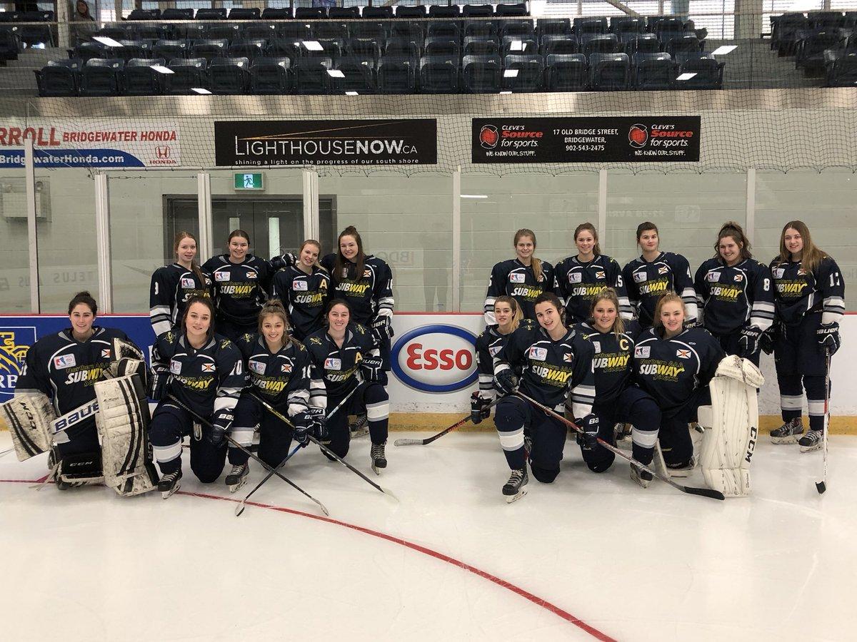 2018 National Female Midget Hockey Championship results (from Bridgewater Sunday)