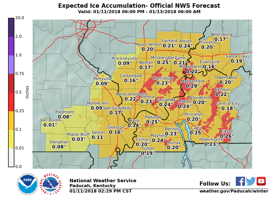 Winter Storm Warning issued for Friday ice, sleet, snow